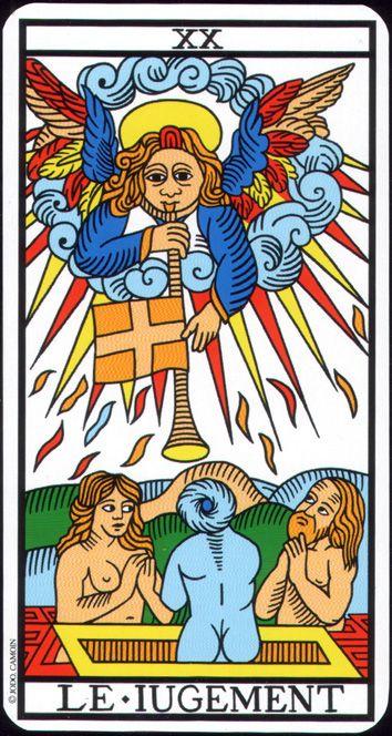 carte du tarot divinatoire le Jugement
