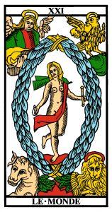 carte tarot le monde