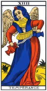 tarot divinatoire la Tempérance