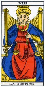 tarot divinatoire de la Justice