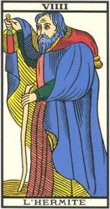 tarot divinatoire de l'Hermite