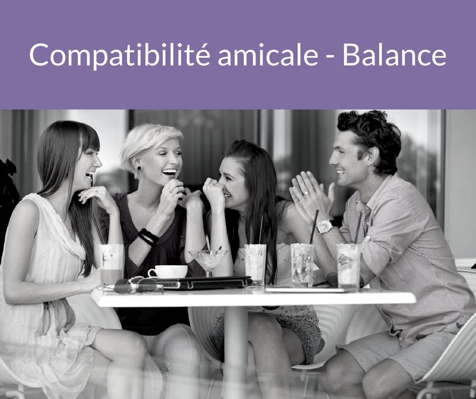 Compatibilité amicale - Balance. Trouvez un ami grâce aux astres