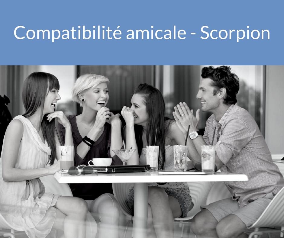 Compatibilité amicale - Scorpion. Trouvez un ami grâce aux astres